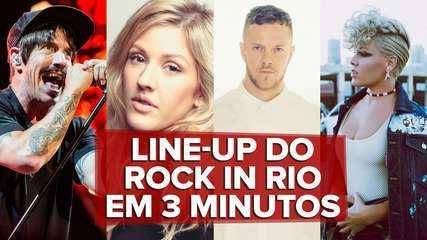 Line-up do Rock in Rio em 3 minutos