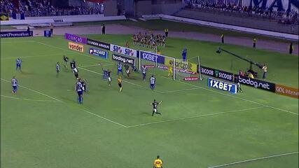 Carli desaba em campo, mas após gol do Botafogo, levanta para comemorar