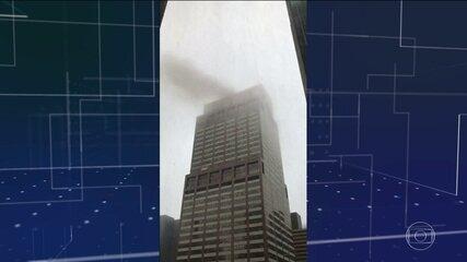 Helicóptero bate no topo de prédio de Manhattan e assusta moradores de Nova York