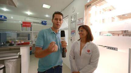Pedro Leonardo doa sangue pela primeira vez