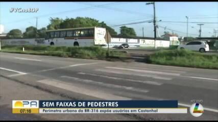 Estudante morre atropelada na BR-316 em Castanhal