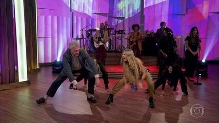 Pedro Bial dança a música 'Boa Menina' com Luísa Sonza