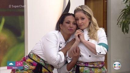 Luciana Vendramini e Valesca Popozuda estão na primeira Panela de Pressão do 'Super Chef'