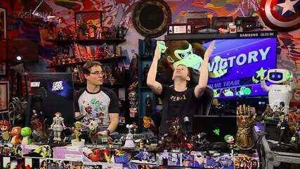 Gameplay estendido de 'Super Smash Bros' com Tiago Leifert e Peter Jordan no 'Zero1'