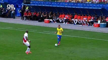 Veja lances da boa atuação de Éverton contra o Peru pela Copa América