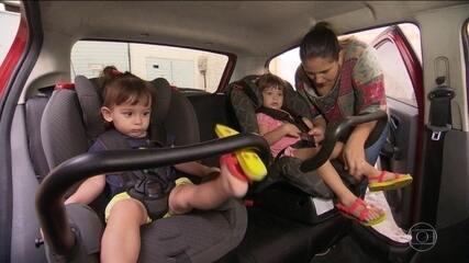 Cadeirinha no carro diminui mortes e internações de crianças por acidentes