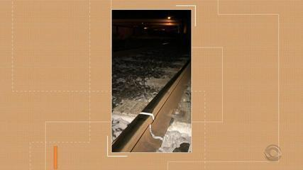 Temperatura baixa causa fissura nos trilhos da Trensurb