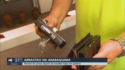 Homem suspeito de furtar 3 lojas da mesma galeria é preso em Araraquara