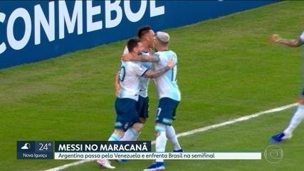 Argentina vence Venezuela no Maracanã e enfrenta Brasil na semifinal da Copa América