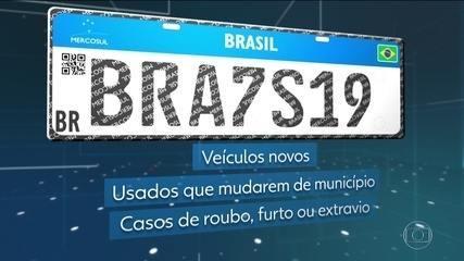 Contran adia implantação de placas de carros do Mercosul