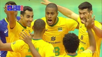 Melhores momentos: Brasil 3 x 0 Canadá pela Liga das Nações de Vôlei Masculino
