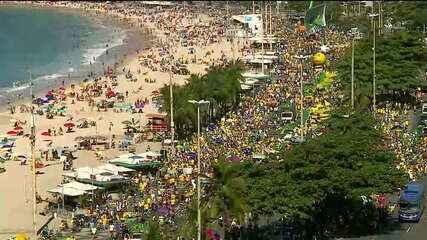 Manifestantes protestam em defesa de Moro e da Operação Lava Jato no Rio