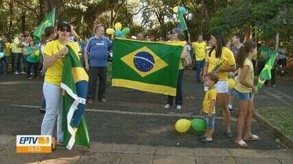 Cidades da região realizaram protesto a favor do governo Bolsonaro