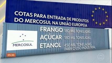 UE e Brasil divulgam detalhes de acordo de livre comércio entre bloco europeu e o Mercosul