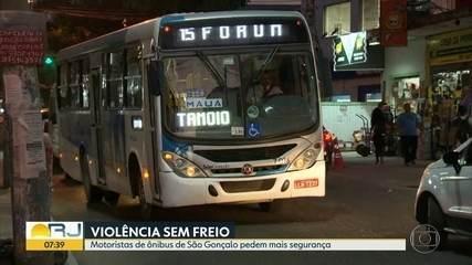 Traficantes aterrorizam passageiros e motoristas de empresas de ônibus de São Gonçalo