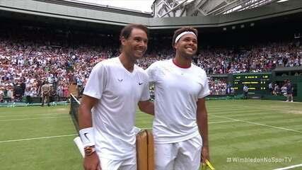 Pontos finais de Jo-Wilfried Tsonga 0 x 3 Rafael Nadal pelo Torneio de Wimbledon