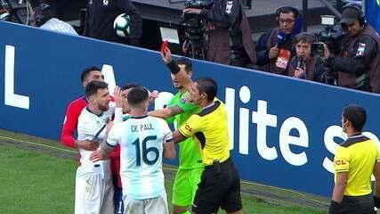 Com polêmicas e Messi expulso, Argentina e Chile se enfrentaram pelo terceiro lugar