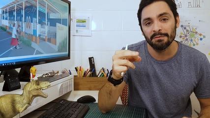 A arquiteto João Duayer, explica o projeto do 'Um Por Todos e Todos Por Um' de Tia Lolo