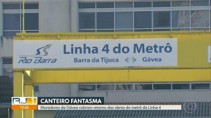 Moradores da Gávea cobram retorno das obras do metrô