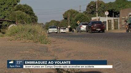 Jovem é preso em Campo Grande após se envolver em acidente