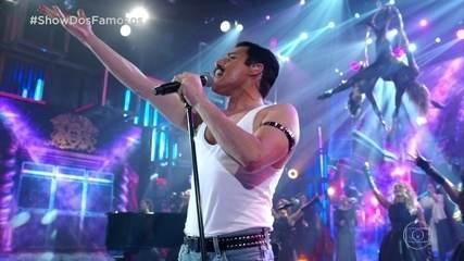 Hugo Bonemer faz homenagem a Freddie Mercury na final do 'Show dos Famosos'