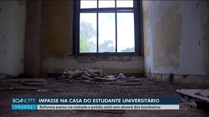 Casa do Estudante Universitário está com quartos interditados e sem alvará dos bombeiros