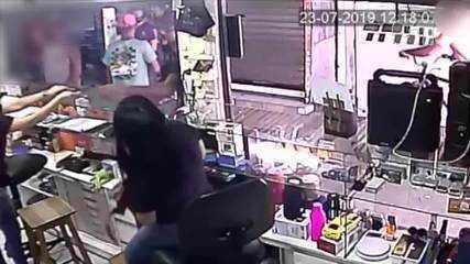 Vídeo mostra assalto a loja de celulares na Grande Natal