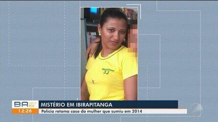 Polícia retoma buscas por mulher que sumiu em 2014