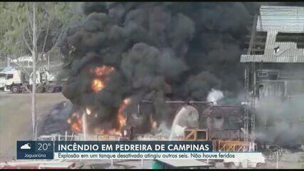 Incêndio atinge área da Rodovia Lix da Cunha e fumaça assusta moradores em Campinas