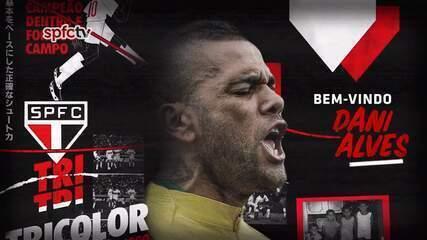 Veja o vídeo do anúncio da contratação de Daniel Alves no São Paulo
