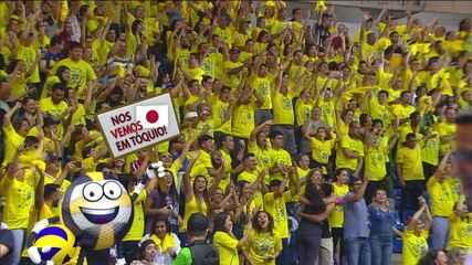 Melhores momentos: Brasil 3 x 2 República Dominicana pelo Pré-Olímpico de Vôlei