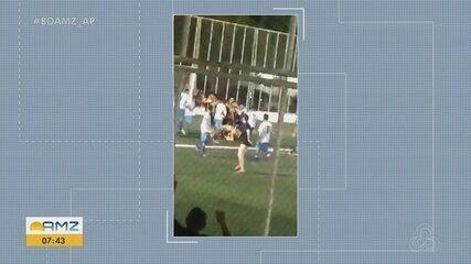 Vídeo mostra briga generalizada durante a 57ª Copa do Mundo Marcílio Dias, em Macapá