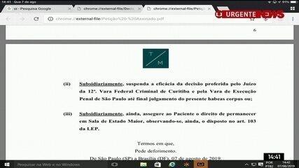Veja o que a defesa do ex-presidente Lula alegou em recurso ao STF