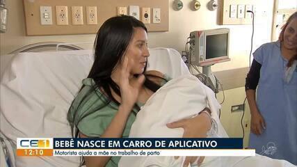 Bebê nasce em carro de aplicativo