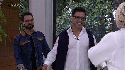 Ana Maria recebe Zezé Di Camargo & Luciano na Casa de Cristal