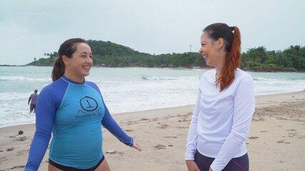 Surfista Jane Morais conta que largou tudo em São Paulo para viver em Itacaré