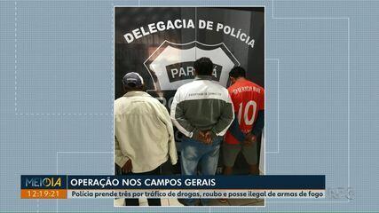 Polícia Civil prende três homens durante operação nos Campos Gerais