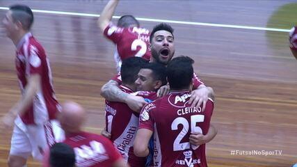 Gols de Atlântico 2 x 1 Carlos Barbosa na final da Taça Brasil de Futsal