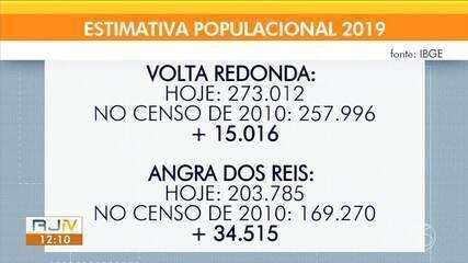 Angra dos Reis cresce mais e Volta Redonda tem maior população do Sul do Rio e Costa Verde