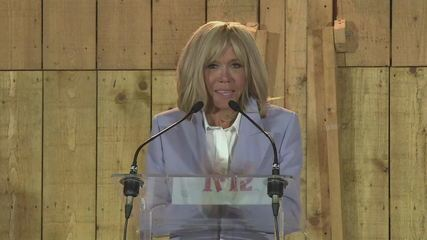 Primeira-dama da França agradece apoio de brasileiros