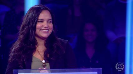 Nathalia testa conhecimentos no 'Quem Quer Ser Um Milionário'