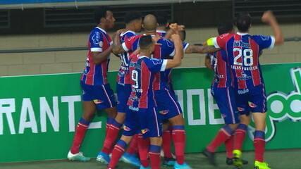 O gol de Bahia 1 x 0 CSA, pela 17ª rodada do Brasileirão 2019