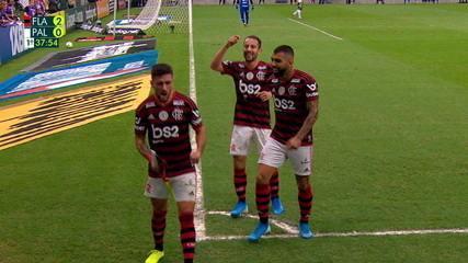 Melhores momentos de Flamengo 3 x 0 Palmeiras pela 17ªrodada do Campeonato Brasileiro