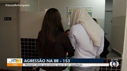 Motorista que agrediu outro condutor na BR-153 presta depoimento, em Goiânia