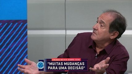 Thiago Neves dá declaração sobre escalação do Cruzeiro e gera mal estar com Rogério Ceni