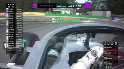Lewis Hamilton faz melhor volta da corrida