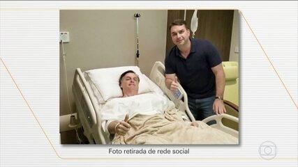 Jair Bolsonaro se recupera de cirurgia feita neste domingo (8), em São Paulo
