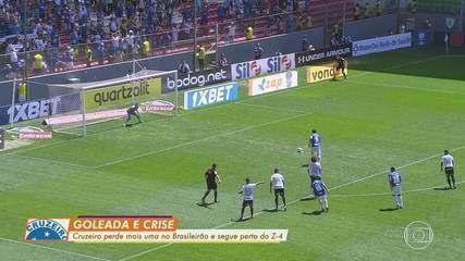 Cruzeiro é goleado pelo Grêmio e, novamente, se aproxima do Z4 do Campeonato Brasileiro