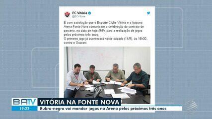 Futebol: Vitória vai trocar o Barradão pela Arena Fonte Nova pelos próximos três anos
