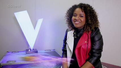 A participante Ana Ruth, do Time IZA, conta que além de cantar, também estuda gastronomia